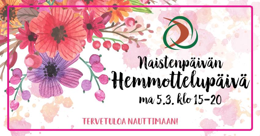 Helsingissä Naistenpäivän hemmottelupäivä 5.3.2018
